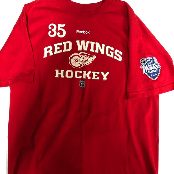 outlet store c1250 7cdbb Reebok Detroit Red Wings Jimmy Howard Jersey Shirt